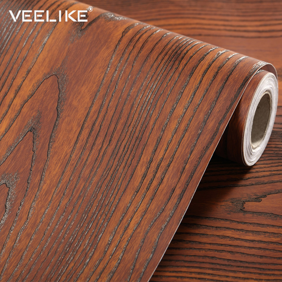 Us 12 87 40 Off Kitchen Cabinet Door Furniture Wood Vinyl Stickers Bedroom Living Room Wallpaper Pvc Waterproof Decals Home Decor Wall Stickers In