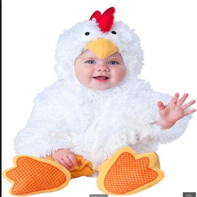 Macacões de modelagem animal bebê terno roupas desempenho de frango lmy1006