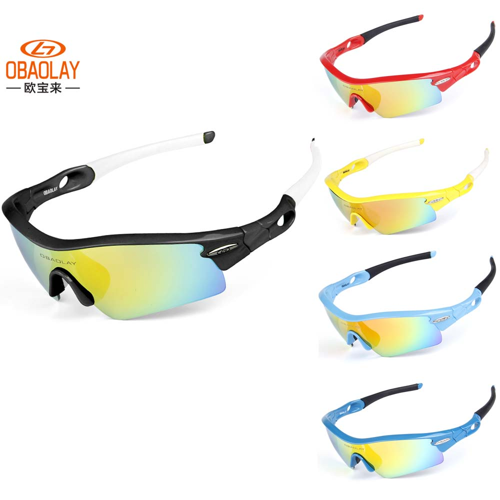 fe4ea954e8a44 OBAOLAY 10 cores Unisex Polarized Ciclismo Óculos Óculos de Sol Ao Ar Livre  Esporte Goggle Oculos Óculos de Ciclismo 5 Lente OBL-LD