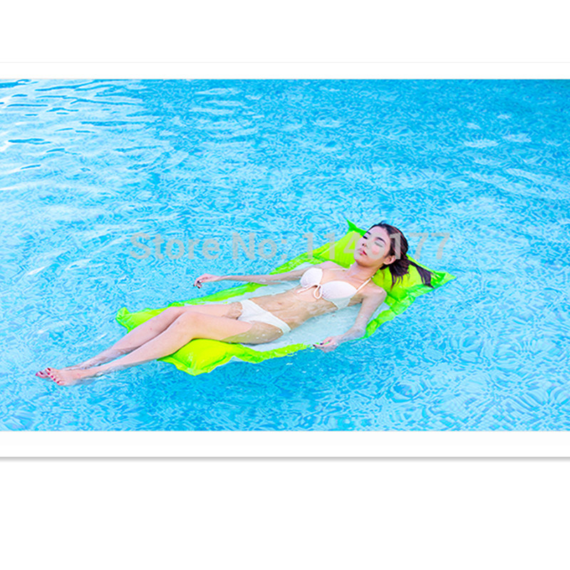 ФОТО Hot Sell Green Color Swimming Floating Bag Bed Beanbag