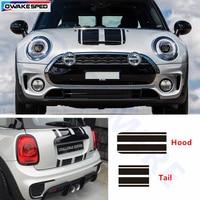 Racing Stripes Car Hood Tail Sticker Auto Accessories Decal For MINI Cooper S Countryman Clubman R56 R60 R61 F54 F55 F56