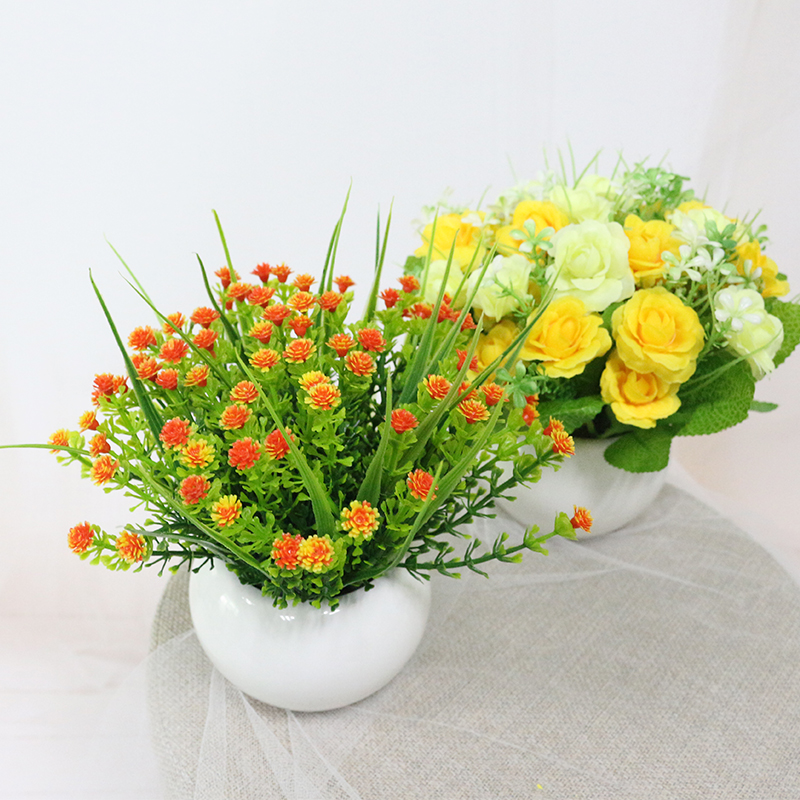 Jarown artificial flowers rose quality ceramics for Artificial flowers for home decoration online