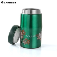GENNISSY 260ml Mini Vintage Stainless Steel Vacuum Flasks Coffee Insulated Tea Vacuum Thermos With Lid Of