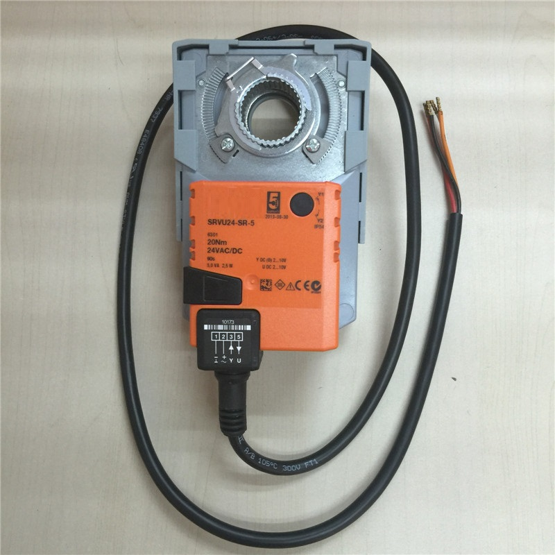 Free Shipping SRVU24 S 5 SRVU24 S 5 20Nm 24VAC DC Swith Motorized Actuator For Electric