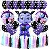 Nicro New 48Pcs/Set Vampirin Girl Paper Tissue Tassel  Balloons Happy Birthday  Halloween Party Decoration DIY Three King #Set46