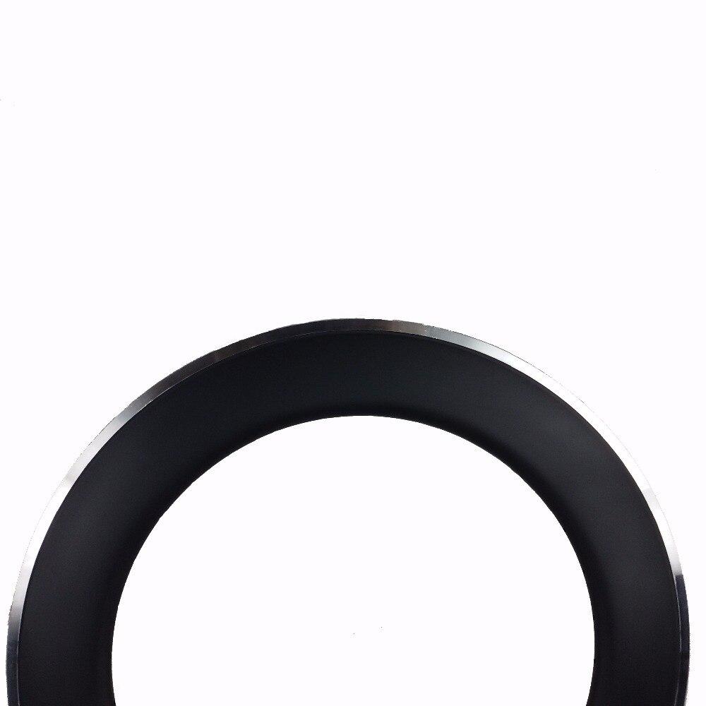 700C 90 мм Глубина 23 мм ширина углерода с сплава тормозной поверхности клинчерные диски дешевые колеса углерода дешевые велосипед Интернет магазин лучшая! - 2