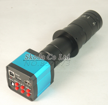 Big sale 14MP HDMI 720P HD USB Digital Industry Video Inspection Microscope Camera Set TF Card Video Recorder + 10~180X C-MOUNT Zoom Lens