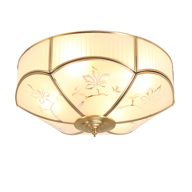 Kitchen Vintage Copper Ceiling Lights Fixture Dining Room Bedroom Mounted Lamp Restaurant Livint Study