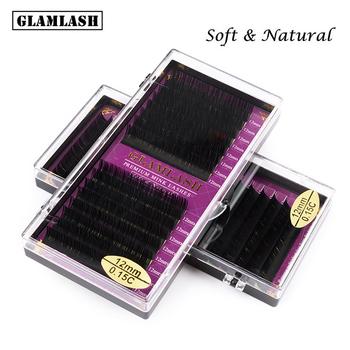 GLAMLASH hurtownia 16 rzędów JBCD Curl naturalne norek pojedyncze przedłużanie rzęs premium indywidualne sztuczne sztuczne rzęsy przedłużane tanie i dobre opinie lashisok Włosy syntetyczne 1 cm-1 5 cm Inne Eyelash Extension GLAMLASH-D0023 Indywidualne lashes Naturalne długie Hand made