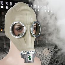 المطاط الطبيعي العسكرية قناع واقي من الغاز كامل الوجه واقية التنفس دون علبة غير سامة ، عديم الرائحة ودائم