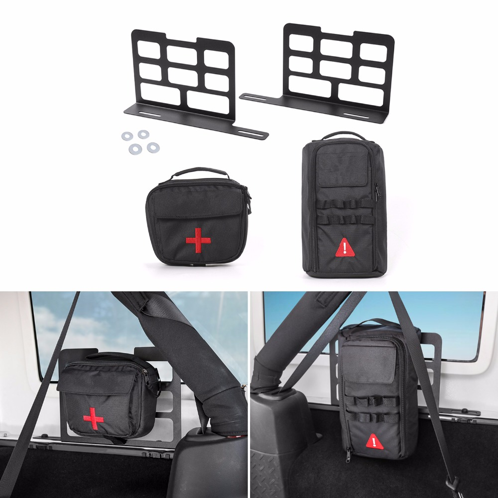 SHINEKA Metal Car Interior Trunk Rack Storage Rack Luggage Carrier For Jeep Wrangler JK 2007 2018