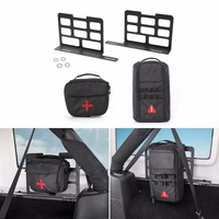 SHINEKA Metal Car Interior Trunk Rack Storage Rack Luggage Carrier For Jeep Wrangler JK 2007 Up Car Styling