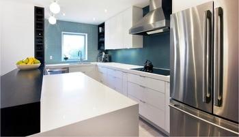 Gran oferta 2016 muebles de cocina de diseño alto brillo con mango simple para fabricantes de cocinas modulares