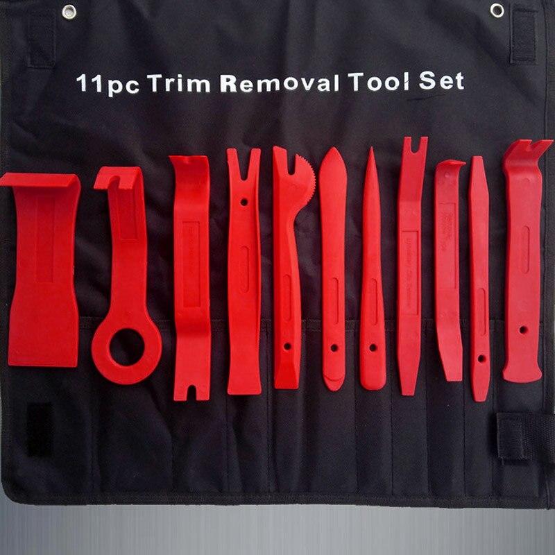 11 unids universal auto plástico TRIM puerta panel ventana moldeo tapicería clip Removal Tool Kit CSL2017