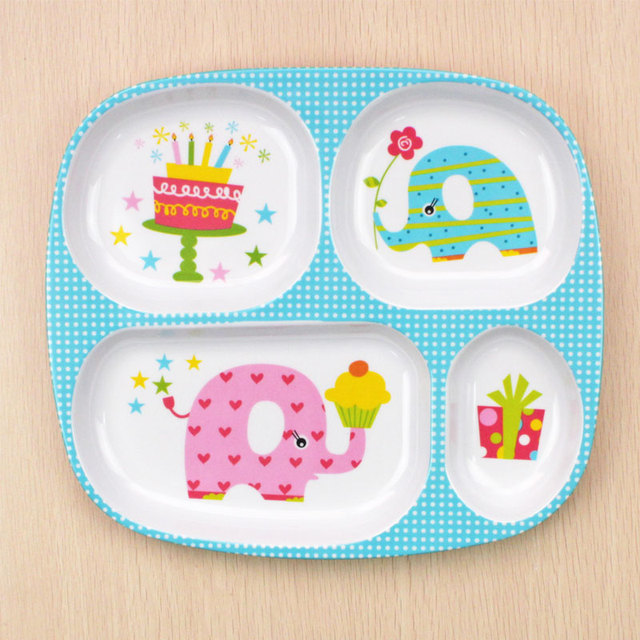 10 colors 24x21cm Children Meal Tray Baby Plate Kids Cute Cartoon Plate Fast Food Dish Plastic  sc 1 st  AliExpress.com : cute plastic plates - pezcame.com