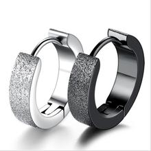 Everoyal Male Vintage Black Hoop Earrings For Boy Accessories New Fashion 925 Sterling Silver Men Jewelry