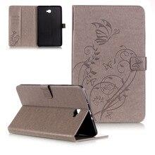 LUCKBUY T580 Floral Pintado Ultra Delgado Soporte de LA PU Funda de piel de Impresión Cubierta elegante de la Tableta para Samsung Galaxy Tab Un T585 T580N 10.1″