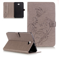 Colorful Floral Painted Ultra Slim Stand PU Leather Case Print Smart Tablet Cover For Samsung Galaxy