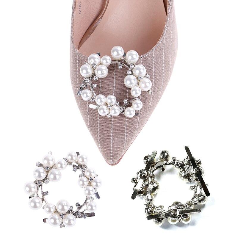 1 Pcs Mode Glänzende Perle Schuh Schnalle Schuhe Handtaschen Leder Dekorative Zubehör