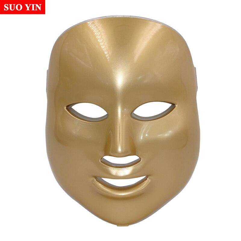 Beauty Star LED Facial Mask 7 Color Photon Electric LED Mask Anti Wrinkle Acne Removal Face Skin Rejuvenation Facial Spa Salon