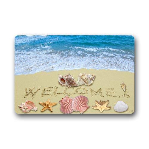 Merveilleux Custom Machine Washable Door Mat Welcome Beach Doormat