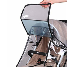 Водонепроницаемая ветрозащитная защита наружные воздушные отверстия-прозрачный дождевик для противомоскитная сетка для коляски универсальная детская прогулочная коляска
