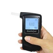 Полицейский Алкотестер 2,0 'Большой ЖК-спирт тестер AT868F Alcotest дисплей температуры с 10 мундштуком