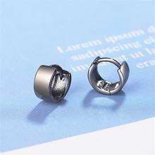 Простые Модные круглые маленькие серьги из стерлингового серебра