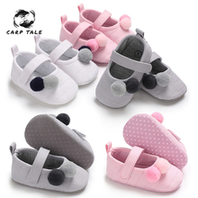 2019 The New 0-18M Toddler Baby Girl Soft Plush Princess Shoes cute shoes Infant Prewalker New Born Baby Shoes for girls