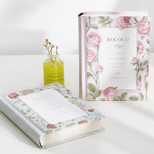 Korean Rococo Flower Floral Kawaii Vintage Travel Diary HardCover Blank Planner Luxury Journal School Notebook Agenda Notepad A6 a5 secret diary book restoring vintage notepad high end notebook notebook agenda journal school office student stationery supply