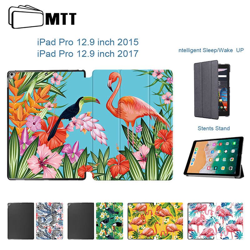 MTT Flamingo cover For iPad Pro 12.9 Case Magnetic Slim Foldable Full Body Leather Stand Case Cover For Apple iPad Pro 12.9 inch kinston i love you patterned pu leather full body case w stand for motorola moto g black red