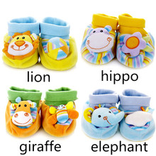 High quality 2 Pcs Baby Rattle Toy wrist Socks Animal Cute Cartoon with retail package