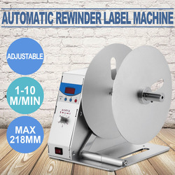 Updated Digital Automatic Label Tags Rewinder Rewinding Machine w/ Speed Adjustable