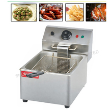 1PC Single cylinder sieve electric fryers FY-6L 220V/2.5KW temperature auto-control  Fryers food fryer pan