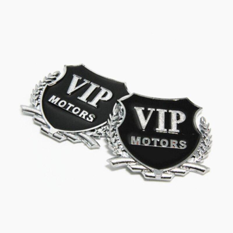 car styling for Mercedes Benz A200 A180 B180 B200 CLA GLA AMG A B C E S Class CLS 3D Metal VIP MOTORS Emblem Car Sticker 2pcs