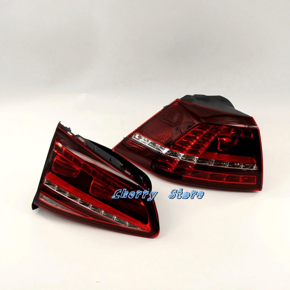 NEW 5G0 945 207 & 5G0 945 307 2Pcs Rear Right LED Dark Red Taillights Tail Light Assembly For VW Golf MK7 GTI 2013 2016