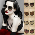 228 Fashionable new arrival cat-eye plastic sunglasses revo lenses with very low price  sunshade