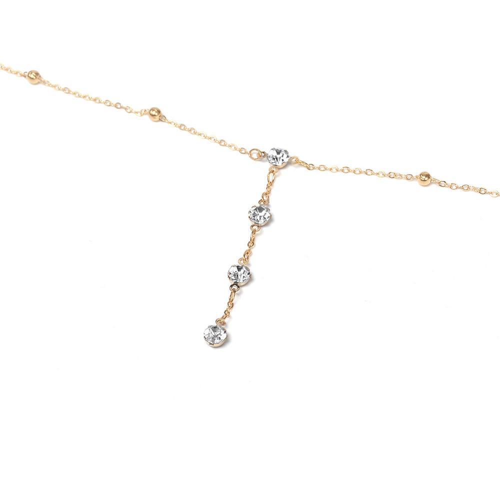 GIVVLLRY Rhinestones Tassel Body Chain Sexy Beach Gold Silver Color Wedding Accessories Bra Cross Body Chain Jewellery for Women 7