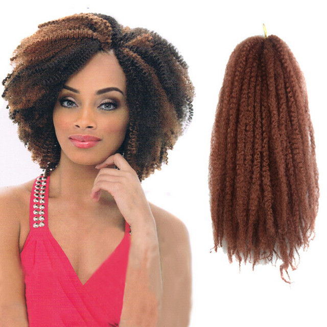 Fashion100g Afro Kinky Curly Synthetic Hair Extensions Long Heat