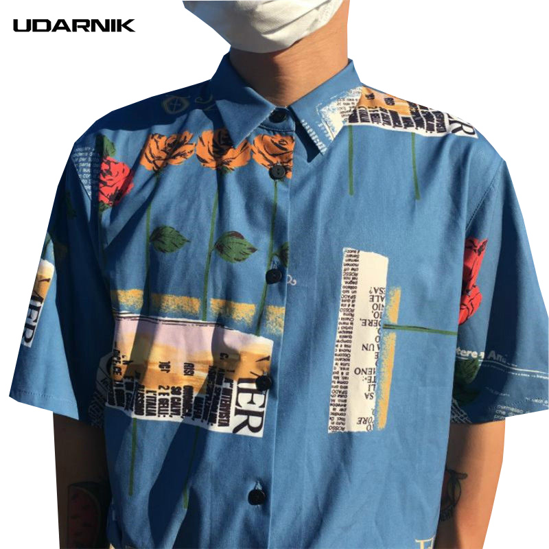 Mens Retro Hawaii Collar Shirts Summer Beach Holiday Vintage Button T Shirt Tops