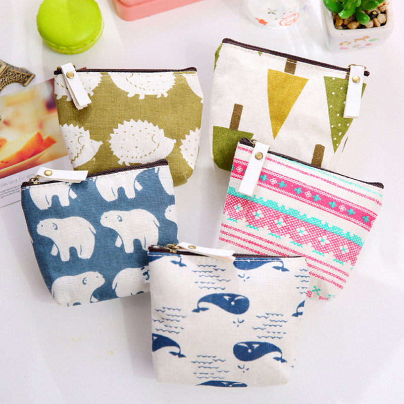 1pcs pure fresh pastoral canvas coin purses zero wallet child girl women change purse,lady zero wallets,coin bag Free shipping 2016 coin bag creative flower women coin purses fresh syle key wallets canvas girls child gift wallets small purse b0234