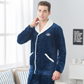 Autumn and winter flannel home clothing couple pajamas men and women long velvet plus thick coral cashmere suits
