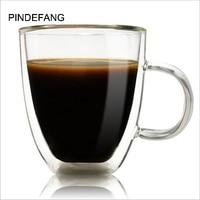 PINDEFANG 350 ml paredes Duplas Copo de Café com Punho Diário Copos suco de Saúde Hora do Chá Caneca xícara de Leite Xícara de Chá de Água Pessoal venda