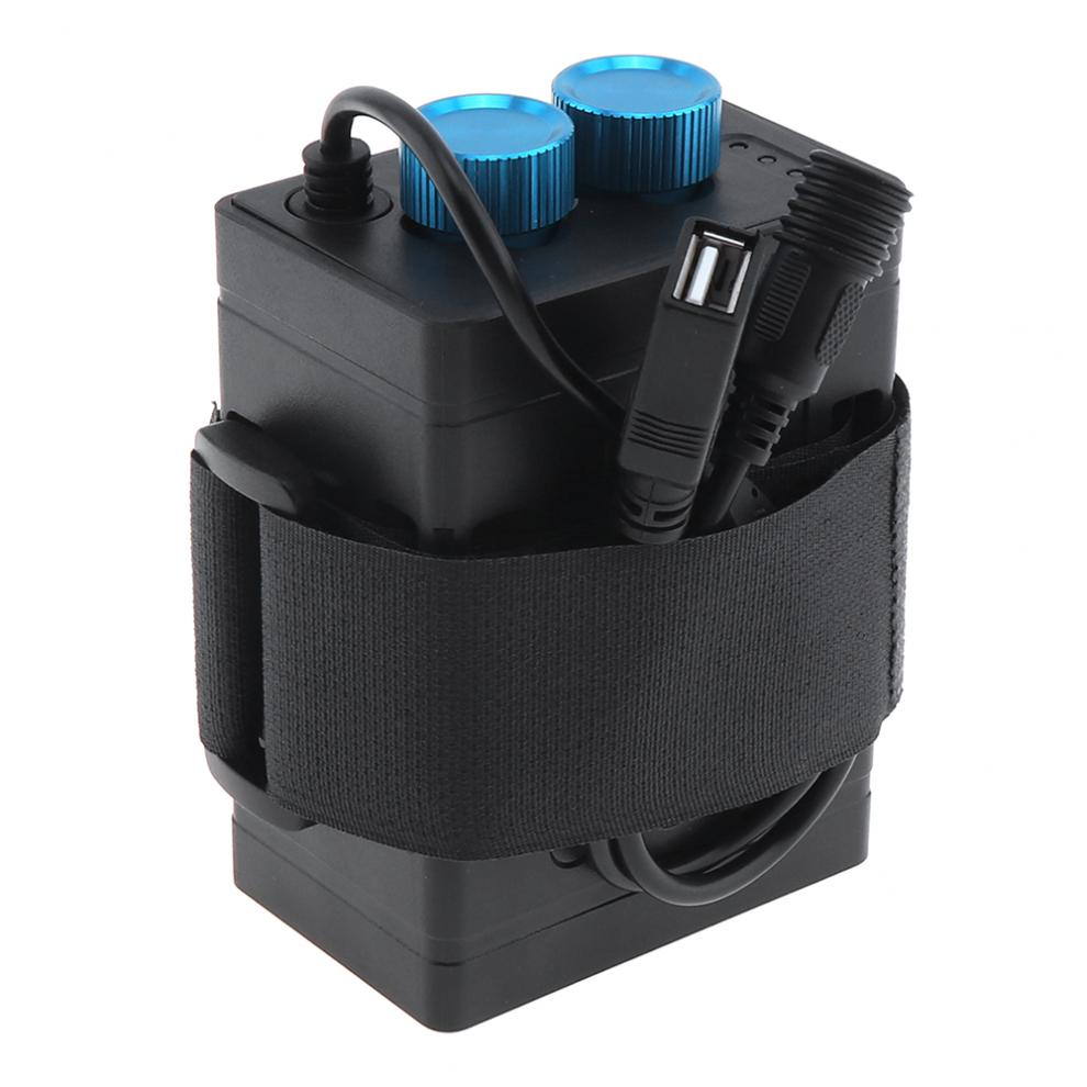 TrustFire IP67 8.4V Waterproof Battery Holder Case Box with USB Interface Support 6 x 18650 Battery for Bicycle LED Light