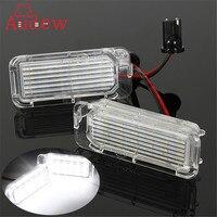 2Pcs 12V LED License Plate Light Number Plate Bulbs Lamp For Ford Fiesta Focus Kuga C
