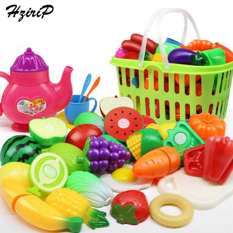 HziriP 26Pcs/Set Fruit and Vegetables Cutting Toy Colorful Plastic Early Development and Education Toy Plastic Hobbies For Gifts
