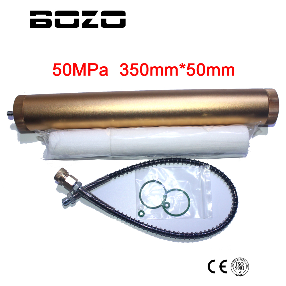 Hand Pump PCP Air Compressor Oil Water Separator Filter 30 Mpa 4500psi 310bar L350mm*OD49mm
