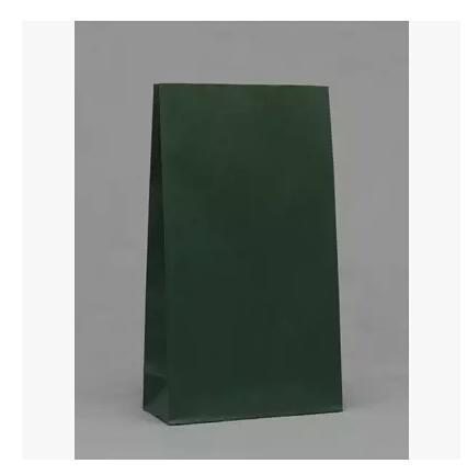 23x12x7.5cm 50pcs/lot Green Kraft Paper Bags Recyclable Gift Jewelry Food Candy Packaging Shopping Bags For Boutique