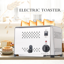 GZZT 4/6 Slices Toaster Stainless Steel Timer Commercial Bread Toaster Sandwich Heater Breakfast Maker Kitchen Tools