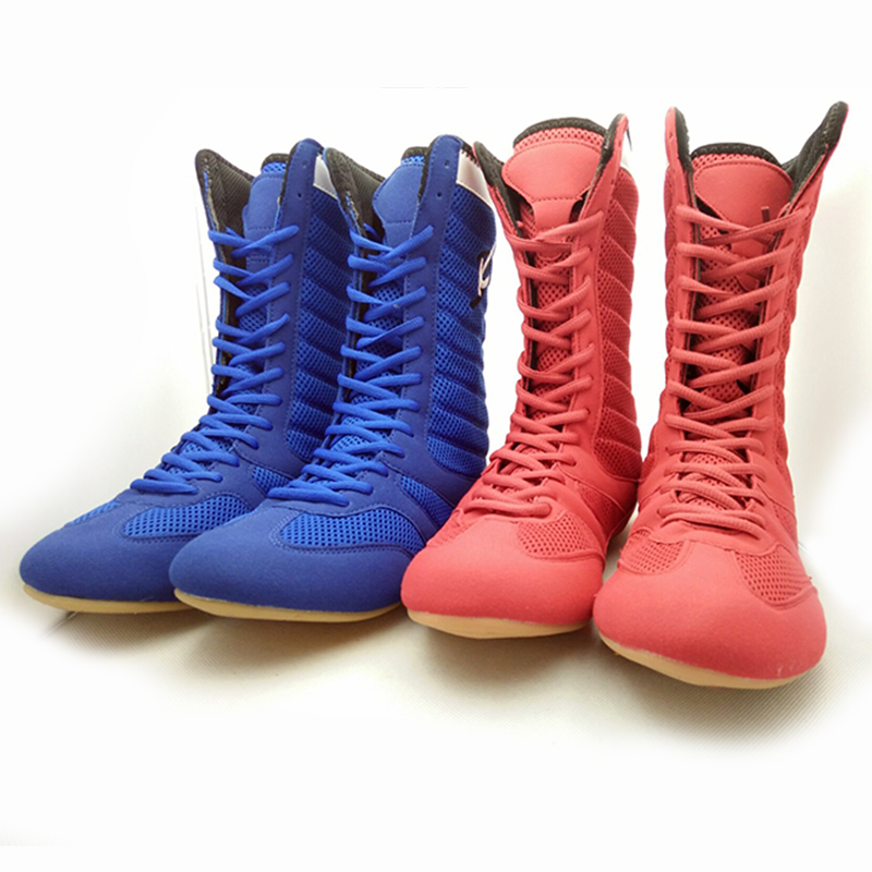 Professional boxing shoes boots Wrestling shoes leopard  Adult kids training sneaker Grappling punch bag sport boxer shoes gear tiebao e1018c professional kids indoor football boots turf racing soccer boots training football shoes